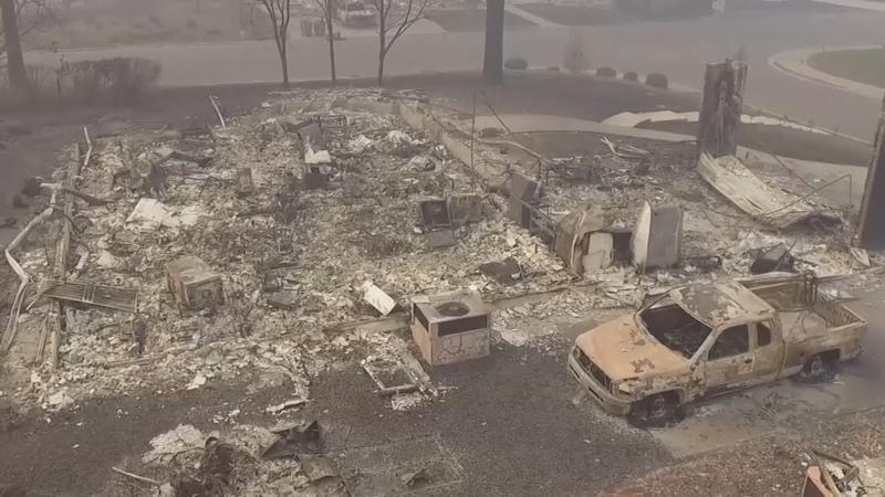 Опустевший Парадайз число жертв пожаров в Калифорнии достигло 66 человек