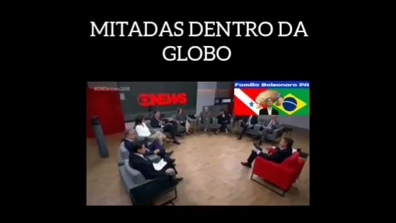Um pouco das muitas mitadas que Bolsonaro deu ontem na Globo. Kkk 🇧🇷😎🇧🇷 Decorrer do dia postare.mp4