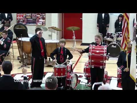 Cymbal falls during Star Spangled Banner