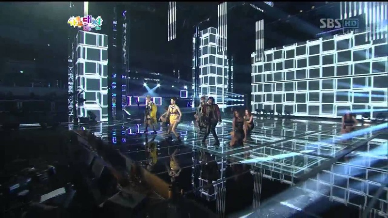 2NE1 [I love you] @SBS 2012 가요대전 The Color of K-pop 20121229