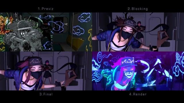 KDA POPSTARS - Animation Progression (short version)