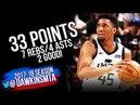 Donovan Mitchell Full Highlights 2018 WCR1 Game 4 Utah Jazz vs OKC Thunder - 33-7-4! | FreeDawkins