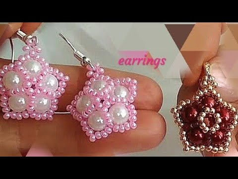 Beautiful earrings. Красивые серьги. МК