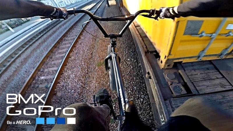 GoPro BMX Полтава трип Катаю на товарном поезде