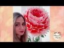 Тонированные цветы из изолона колером георгин пион роза