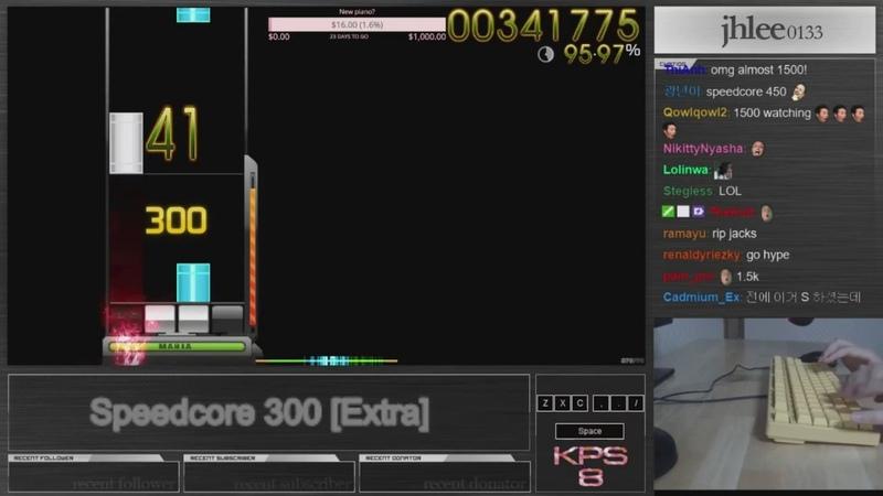 Jhlee0133 ★7.82   1069pp Speedcore 300 [Extra] DT PP Rain