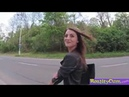 Cowgirl Riding in Outdoors Katy Rose Public agent prank