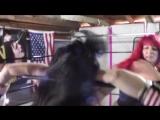 Dana vs Alex, Boxing short clip! ModestMomsWrestling.com