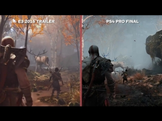 God of War_ E3 2016 vs. Final Graphics Comparison