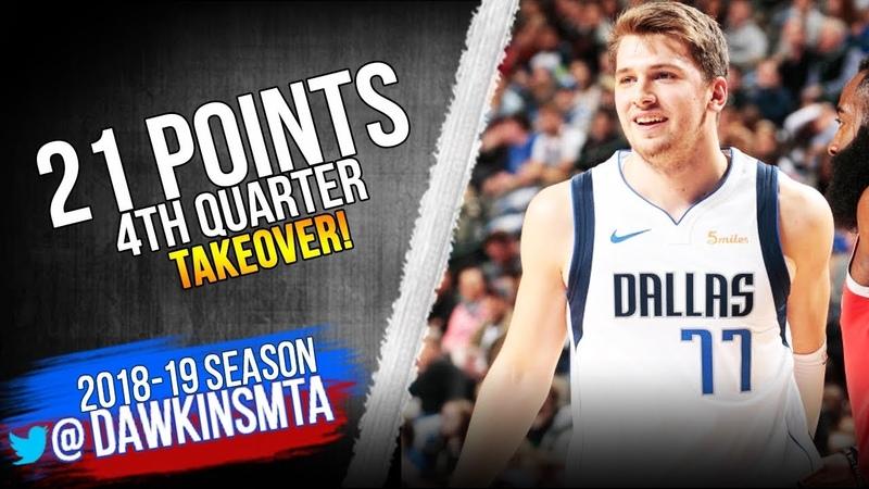 Luka Doncic Full Highlights 2018.12.08 Mavs vs Rockets - 21 Pts, 4th Quarter TAKEOVER! | FreeDawkins
