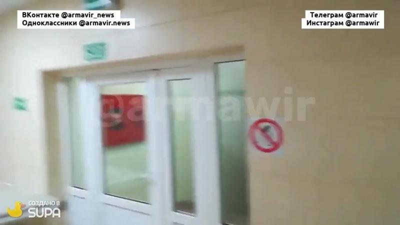 Проверка эвакуационных выходов в 3-й горбольнице Армавира 24.04.18