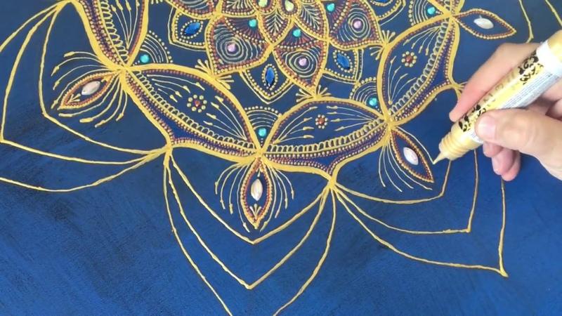 Painting on canvas Mandala Картина на холсте Мандала Точечная роспись