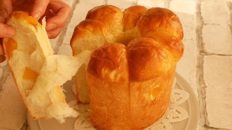 シフォン型でふわふわ~柔らかすぎる林檎ミルクパン♪ Soft and Fluffy Apple Milk Bread
