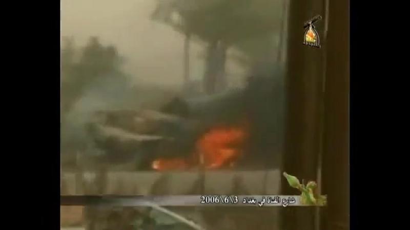 Ирак.Багдад.03-06-2006 .Подрыв М-1А2 Abrams на мощном СВУ, танк полностью уничтожен