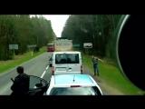 Польша - Беларусы выбрасывают мусор из авто на дорогу... - Поляки среагировали...