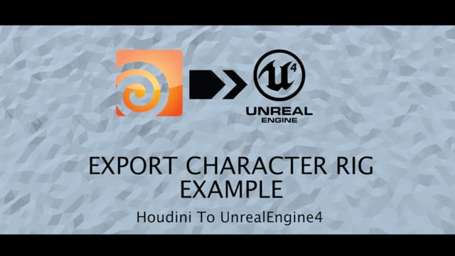Houdini rig to Unreal Engine export example.