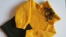 ABS Школа Вязания Спицами и Крючком Худи спицами описание Реглан сверху подробный мастер класс Свитер с горловиной и завязками