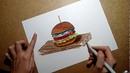 Рисуем бургер фломастерами! Speedpaint