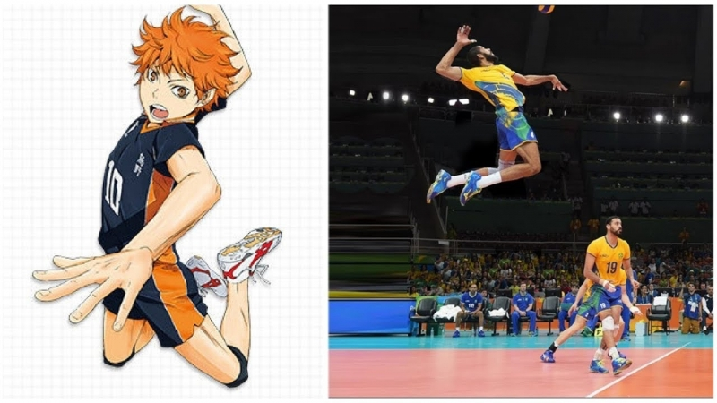 Haikyuu VS Real Life. Best Volleyball Actions (HD) 2
