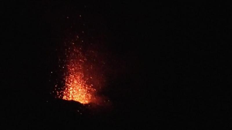 извержение вулкана на о. Стромболи