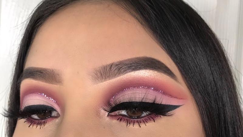 Berry Mauve Glitter Cut Crease | Jocy Reyes