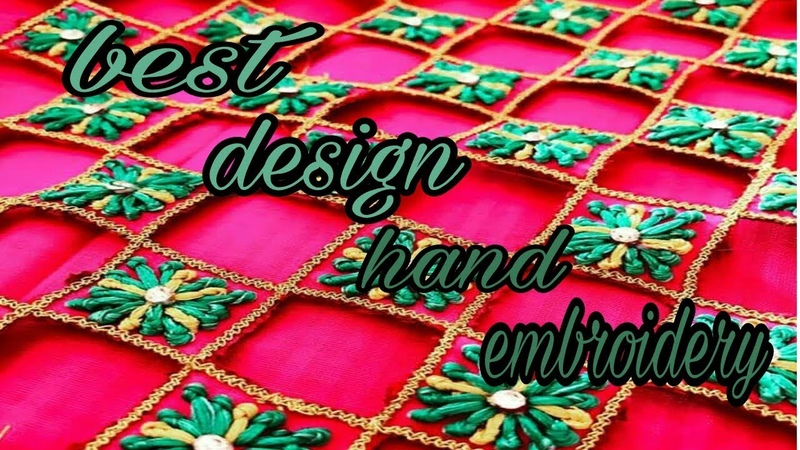 Hand embroidery |cut work French knot | Aari hend embroidery | diamond work
