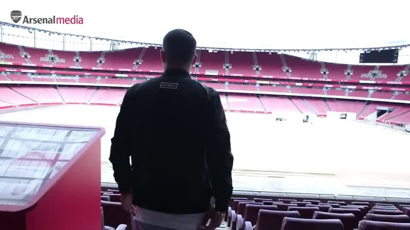 Granit Xhaka when he was first shown around The Emirates The look on his face displayed nothing but proudness to be a part of T