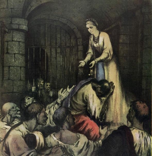 Маруся Богуславка - главная героиня украинской народной думы. Украинская литература Думы это лирико-эпические произведения украинского фольклора о событиях из жизни казаков XVI-XVIII столетий.