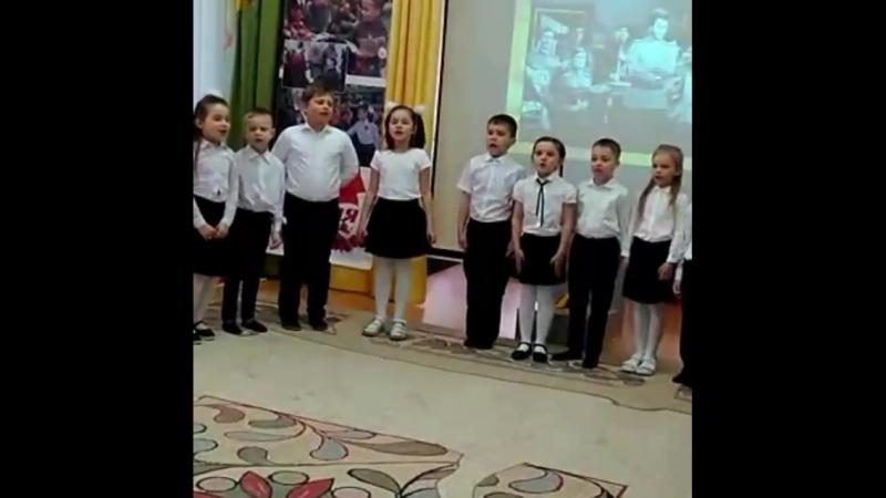 ДОУ Улыбка √7 День Победы Выступление моей подготовительной группы Молодцы