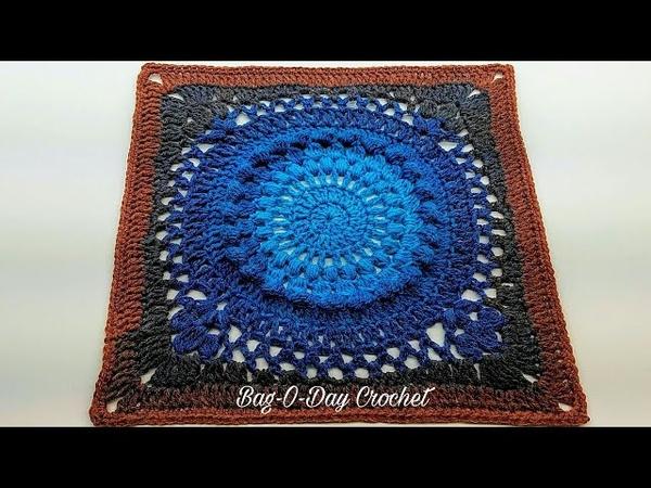 Learn How To Crochet 13 Galaxy Granny Square Crochet Tutorial 415 DYI