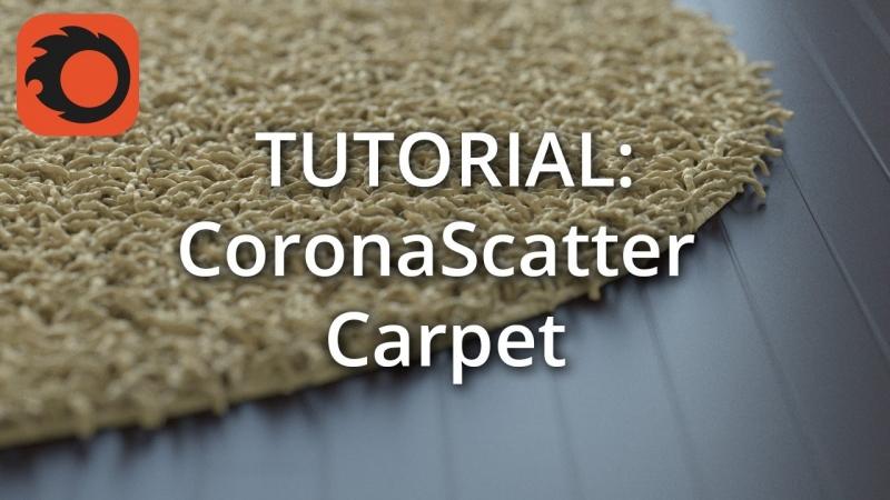 Создание ковра с помощью Corona Scatter