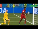 Michy Batshuayi kicks ball into post… only to bounce back off his HEAD