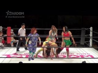 03 Hanan, Mayu Iwatani, Saki Kashima  Starlight Kid vs. JAN (Jungle Kyona, Kaori Yoneyama, Leo Onozaki  Ruaka)