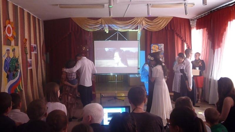 Танец с участием моей дочери на 9 мая СКОШИ 62