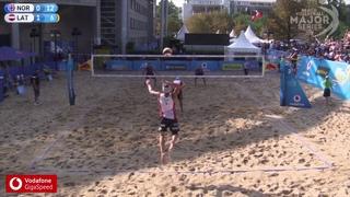 Mol.A/Sørum (NOR) vs. Plavins/Tocs (LAT) 2018 Hamburg Finals Pool Play