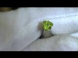 Уральский,Гранат-Демантоид Яблочно-зеленый Наша ручная огранка. Чистота ближе к Vs Размер -5.5 5.5 мм . Вес 0.95 кт. Цена