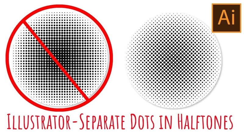 Illustrator - Halftones with spaced out circles