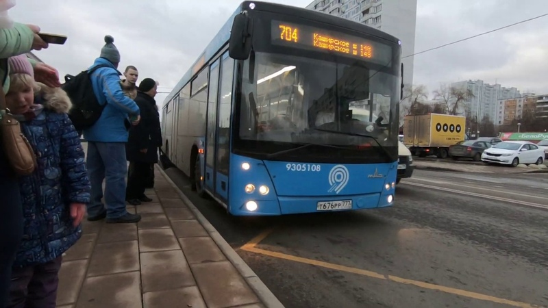 Москва, маршрут 704: МАЗ-203.069, №030306 / Moscow bus, route 704: MAZ-203.069