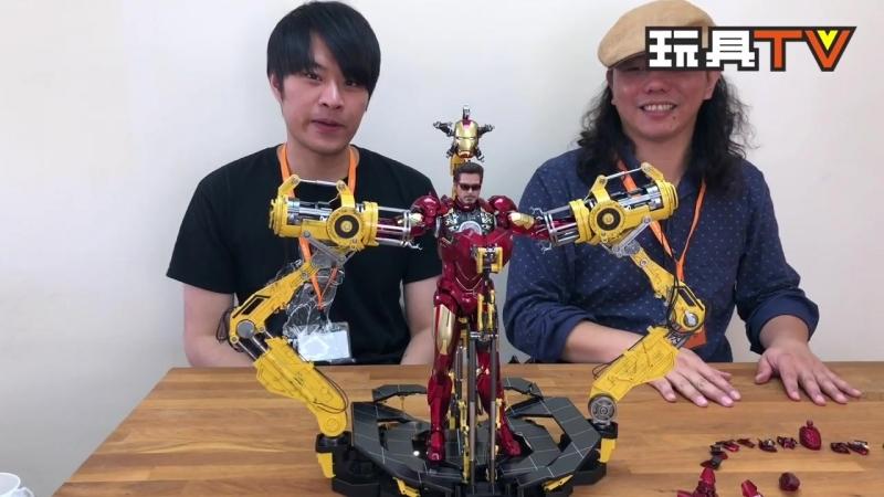 [ToysTV Ch] Hot Toys MMS462D22 Iron Man 2 - Iron Man Mark IV w Suit-Up Gantry 16