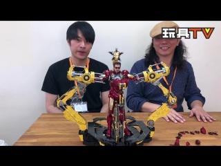 [ToysTV Ch] Hot Toys MMS462D22: Iron Man 2 - Iron Man Mark IV w/ Suit-Up Gantry 1/6