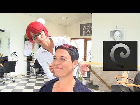 Extrem short haircut with shaved nape |buzz cut women by anja herrig | eyelash
