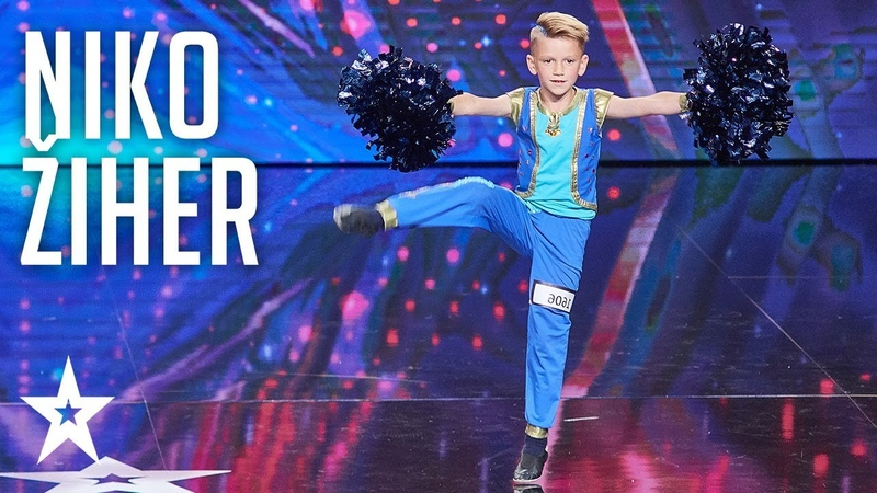 Niko Žiher brings joy to the stage│Supertalent 2018│Auditions