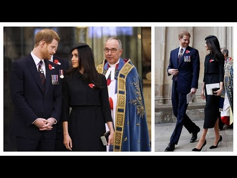 THE LOOK OF LOVE! Prince Harry and Meghan Markle - ANNUAL ANZAC DAY SERVICE 2018