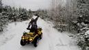 Зимний дрифт на BRP Outlander / ATV Snow Drift on BRP Can-Am