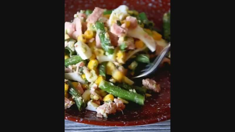 Вкусный и полезный салат на перекус