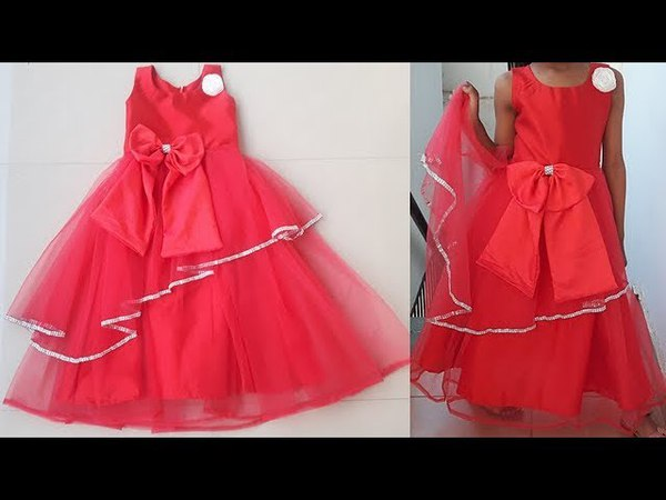 DIY Designer Party Wear \Festive Wear Baby Frock Cutting And Stitching Tutorial