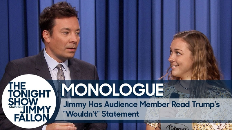 Jimmy Has Audience Member Read Trumps Wouldnt Statement