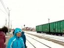 Прибытие поезда √379 Москва-Камышин на станцию Камышин 1