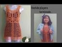Vestido playero a crochet carmen terminado
