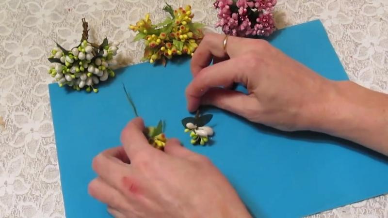Как сделать Тычинки для цветов канзаши - Тычинки для цветов из ткани и фома - DIY Flower Stamens -